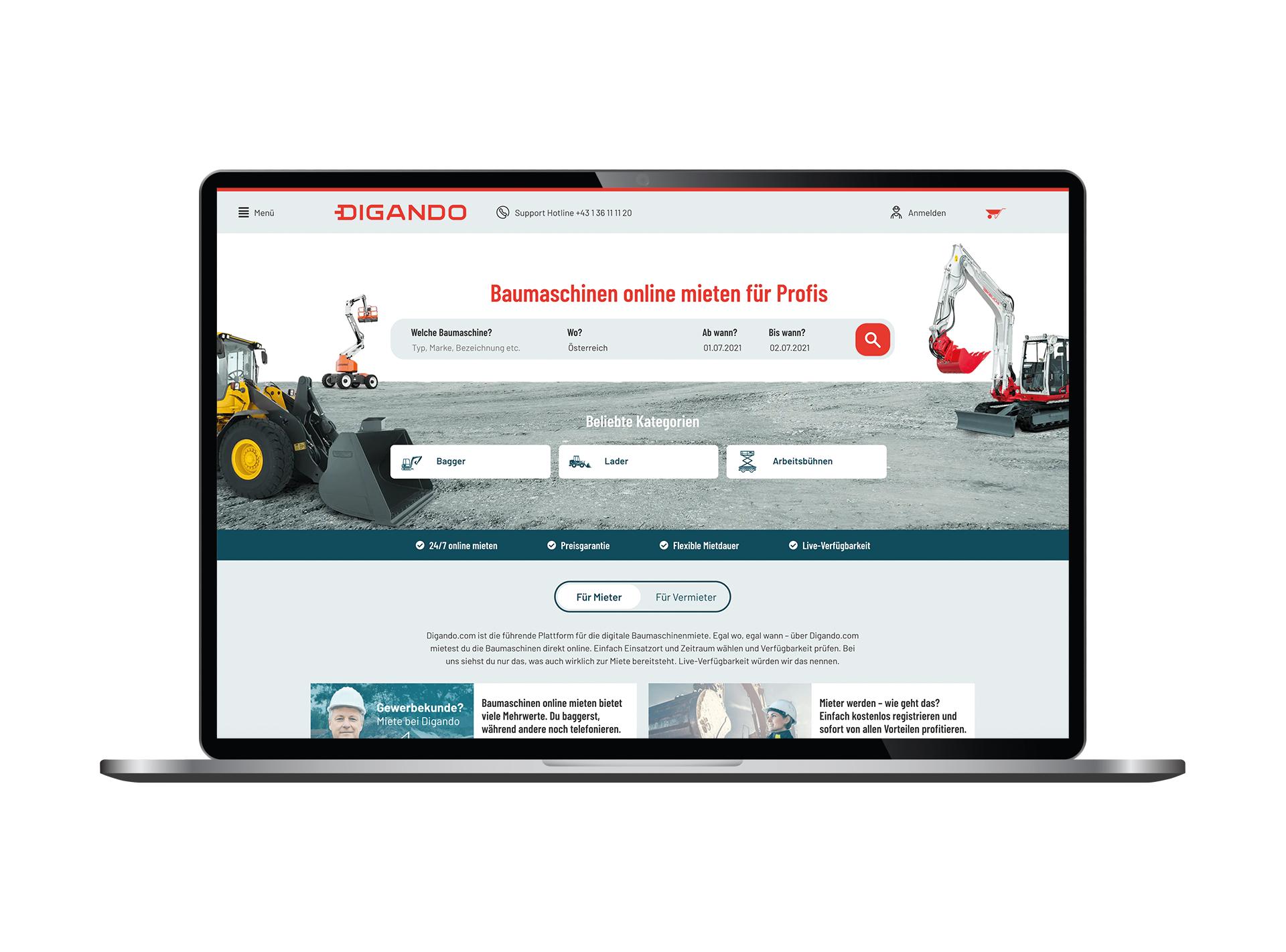 Die Website hat neue Funktionen und ein verbessertes Nutzererlebnis