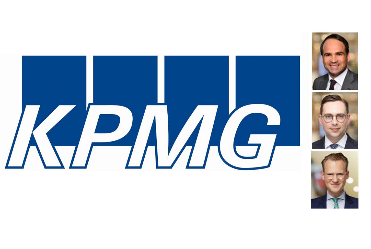 KPMG: Bernd Oppold, Partner KPMG und Maximilian Eberle, Manager KPMG und Simon Zimmermann, Assistant Manager KPMG