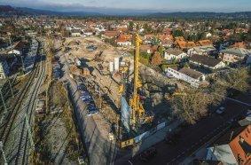 Bauer führt Spezialtiefbauarbeiten für Loisach Quartier in Wolfratshausen aus © BAUER Group