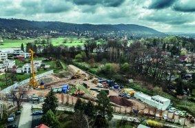 Im Oktober 2020 begann Bauer Umwelt mit den Arbeiten auf dem 870 m2 großen ehemaligen Schoof-Areal im Dresdner Stadtteil Laubegast.