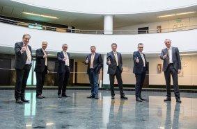 Der Vorstand des VDBUM (v.l.n.r.): Michael Hennrich, Josef  Andritzky, Peter Guttenberger (Präsident), Roland Caillé, Dieter  Schnittjer, Jan Scholten und Dirk Bennje (Vizepräsident).