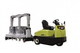 Der Double U-Frame-Anhänger CTR02 kann sowohl zwei Europaletten mit je 800 kg Lastgewicht als auch andere in der Industrie übliche Palettenarten aufnehmen