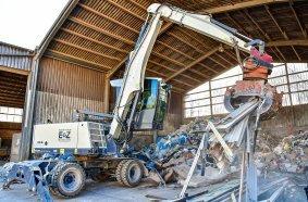 Ob Restmüll oder Bauschutt – der Fuchs eignet sich zum Sortieren der Materialien am Entsorgungshof Zimmermanns