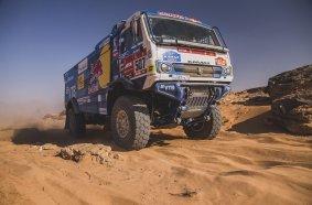 Dmitry Sotnikov (RUS) for KAMAZ Master races during stage 8 of Rally Dakar 2021 from Sakaka to Neom, Saudi Arabia on January 11, 2021.