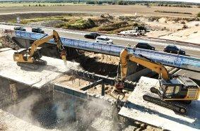 Das gelingt nur mit Variolock – Drei Brücken in Rekordzeit zurückgebaut