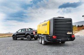 Die M255 ist der größte öleingespritzte Baukompressor von Kaeser für Europa und Nordamerika.