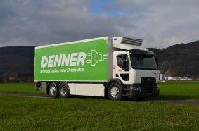 Ein vollelektrischer 26-Tonner des Typs Renault Trucks D Wide Z.E. ergänzt nun die Flotte von 100 Lkw des Schweizer Transportunternehmens Rhyner Logistik.