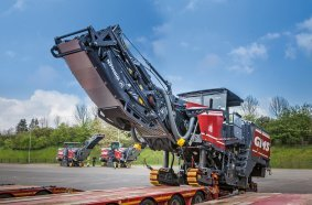 Mit den drei modern ausgestatteten Wirtgen Großfräsen wird der GMS Maschinenpark umweltgerecht erweitert.