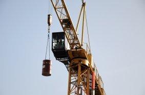 Die ZUMBau-Prüfung wurde auch an einem Oberdreher-Turmdrehkran abgenommen.