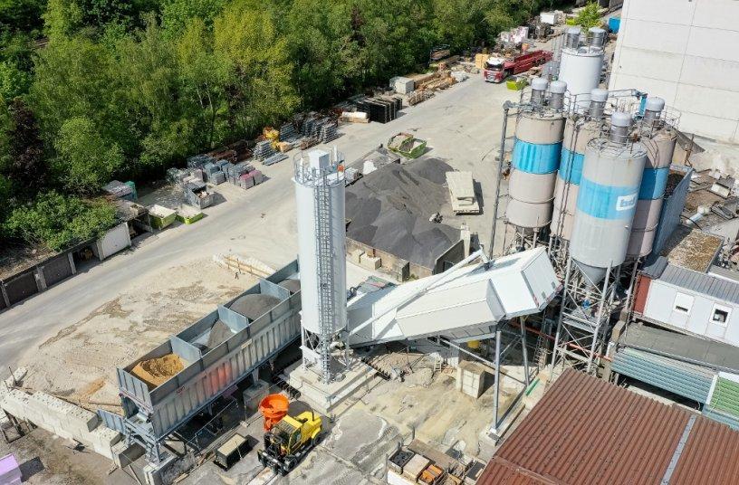 Innovative Technik: EUROMIX® 3300 SPACE von SBM produziert Ultrahochleistungsbeton für Windkrafttürme