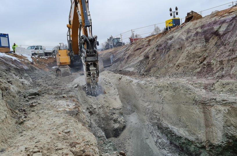 Kanalbau im Sandstein