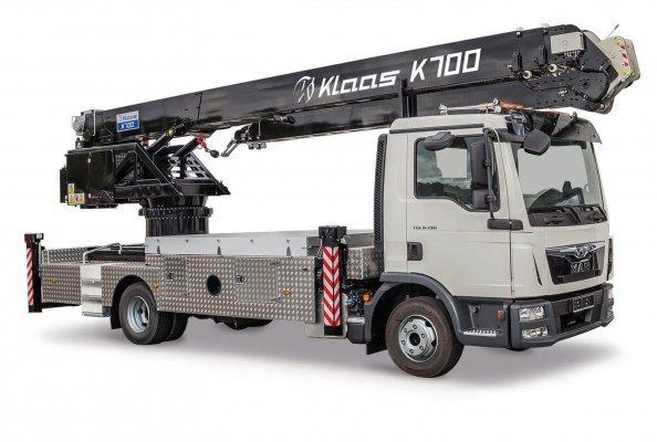 Der K700 ist auf einen LKW der 7,5-Tonnen-Klasse aufgebaut und darf mit dem Führerschein der Klasse C1 gefahren werden.