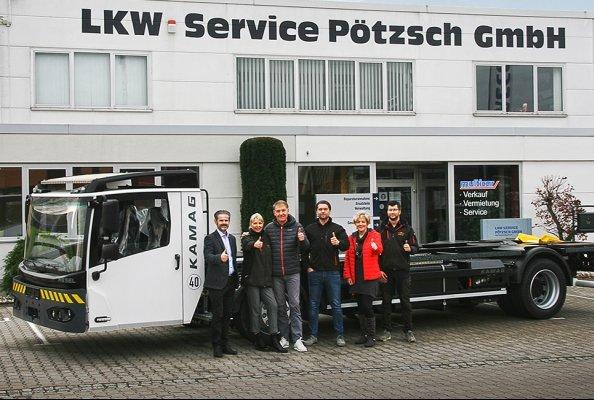 Eine Erfolgsgeschichte: KAMAG Transporttechnik und Lkw Service Pötzsch erweitern Servicepartnerschaft um Neufahrzeughandel in Sachsen und Tschechien