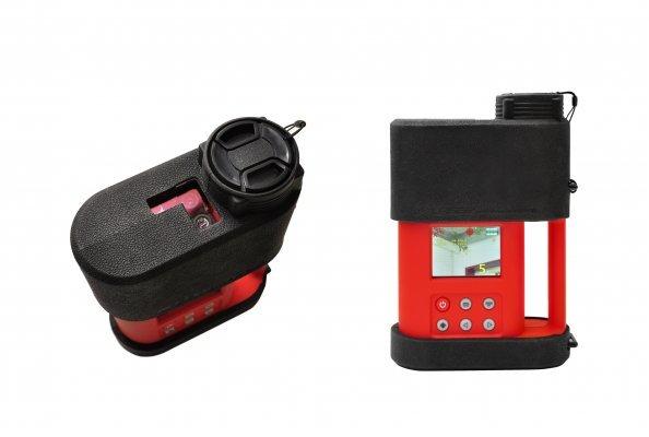 Das neue Handmessgerät ELLI zur Fernerkundung von Methanleckagen und Methanansammlungen ist jetzt mit einer Kamera zur visuellen Unterstützung des Messvorgangs ausgestattet. Quelle Esders GmbH