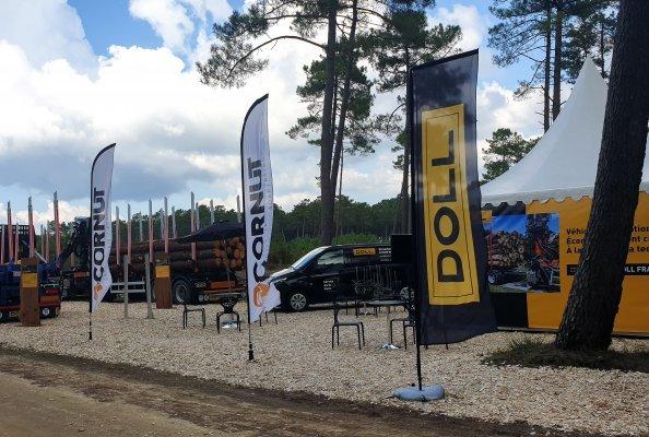 Die DOLL France SAS präsentierte sich mit Partner Cornut im September 2021 erstmals auf der Forexpo in Mimizan. 