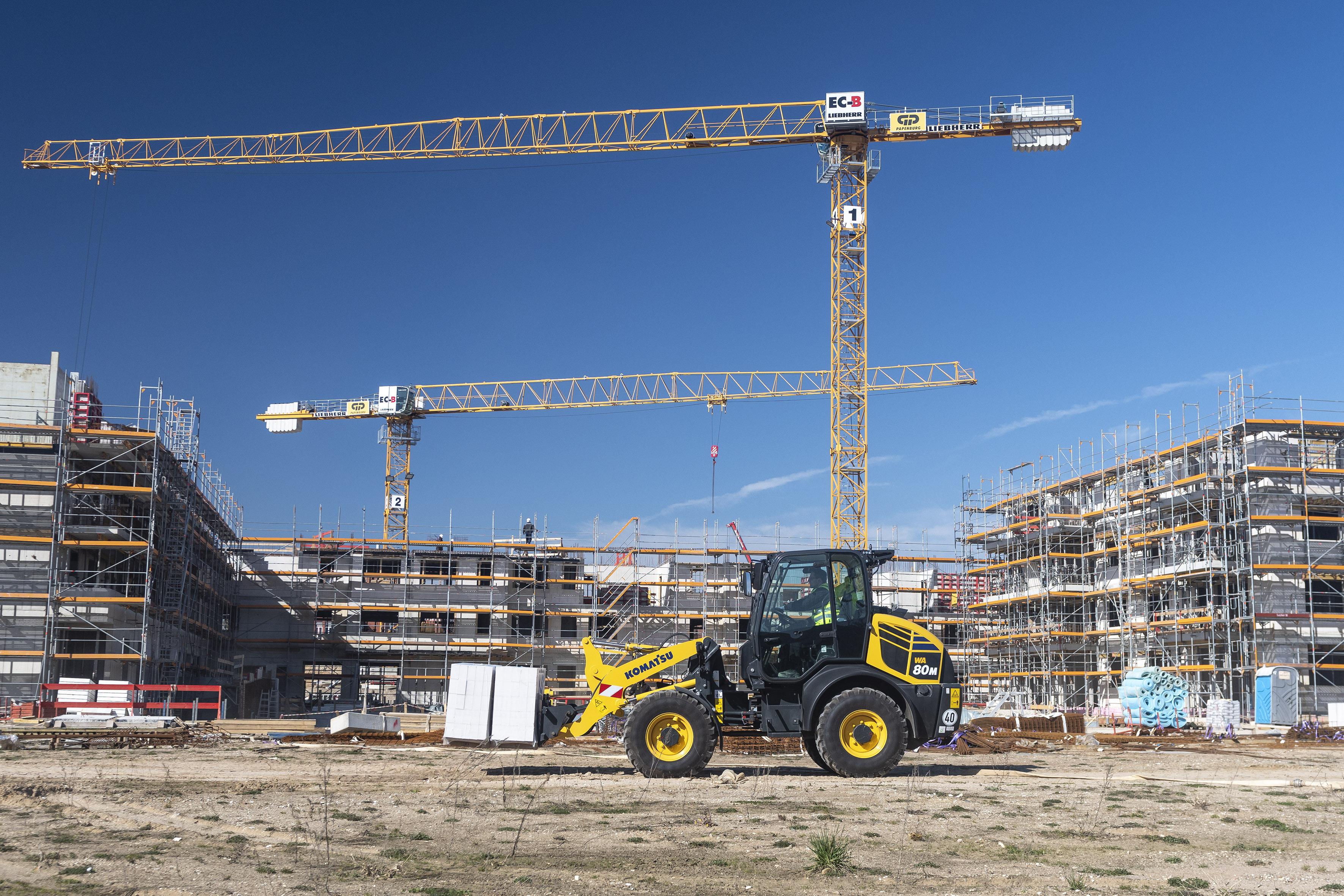 Der WA80M-8 ist ein multifunktionaler Helfer auf der Baustelle.