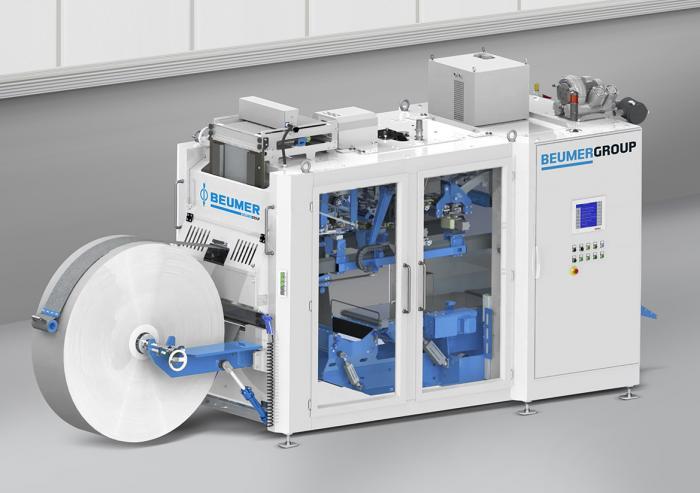 BEUMER sealpac – die Form-Fill-Seal-Anlage zeichnet sich durch hohe Durchsatzleistung, Verfügbarkeit und kompakte Bauweise aus.