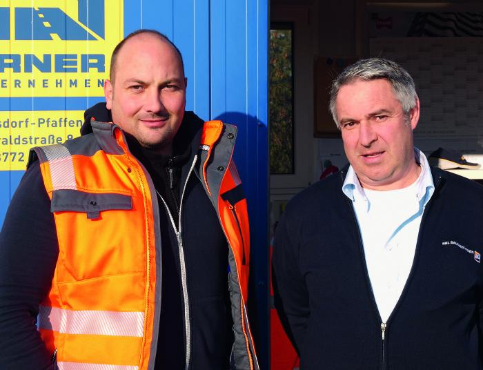 Experten im Brückenbau: Stephan Bauer, Bauleiter der Firma Fahrner und Thomas Schmidt, Betriebsleiter im HKL Center in München-West.