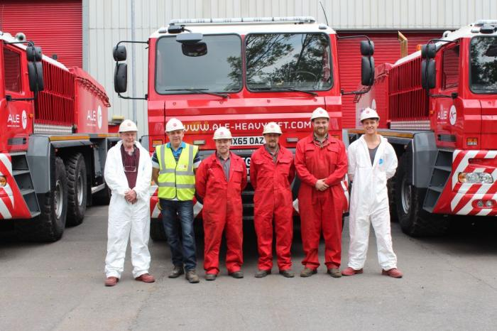 Some of the personnel involved in the build programme