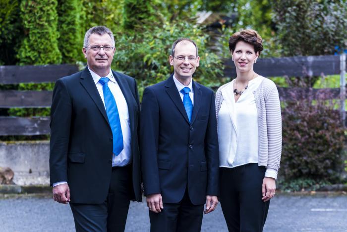Günter Höhn, Daniel Hecker und Lena Resch