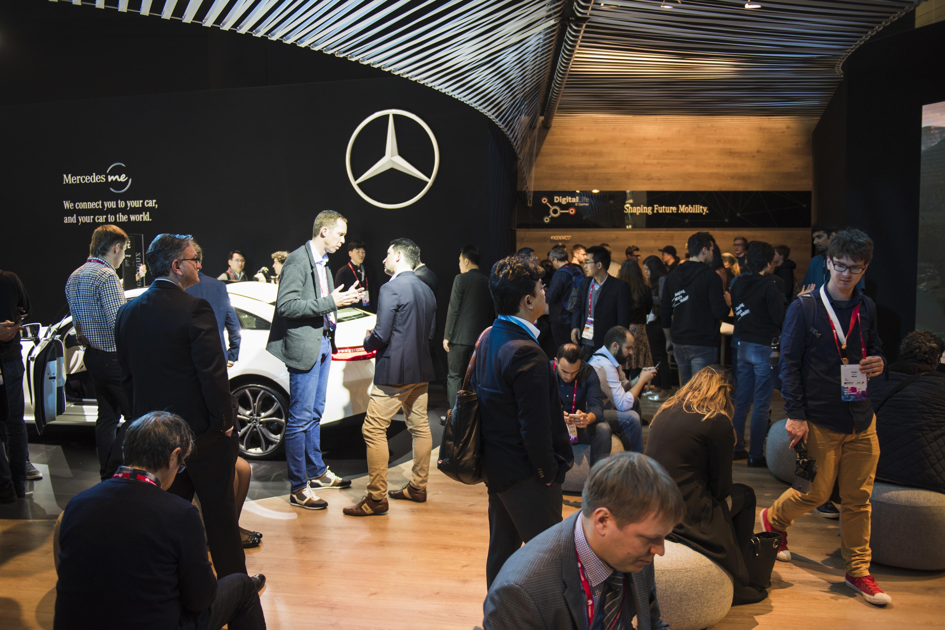 Mercedes-Benz auf dem Mobile World Congress 2017