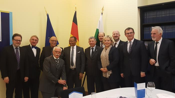 Dinner Hosted by the Rector of the Berg Akademie Freiberg at the Saxony State Representation in Berlin in honour of the Namibian Ambassador