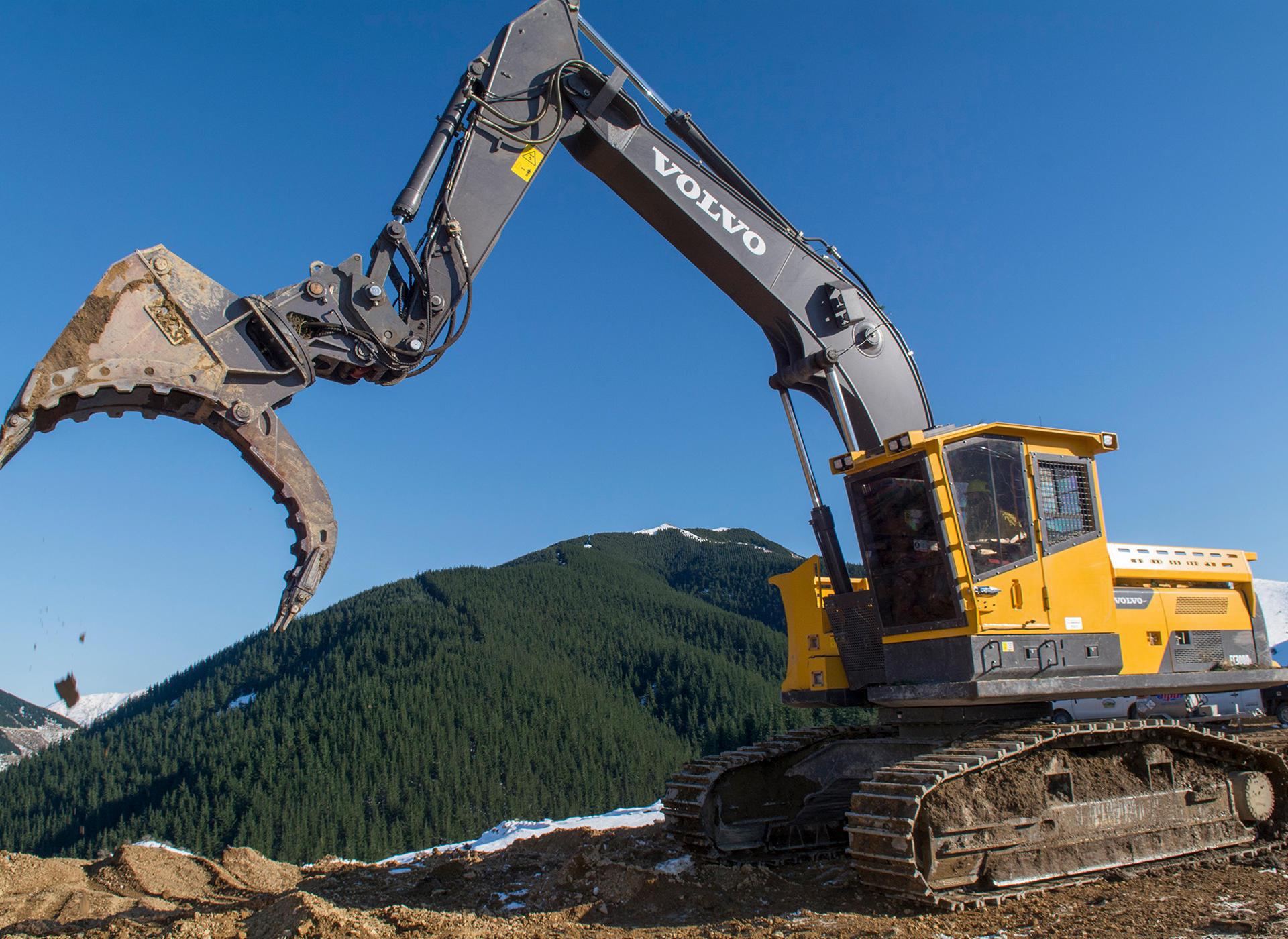 No terrain is too tough for the custom-built Volvo EC300DL.