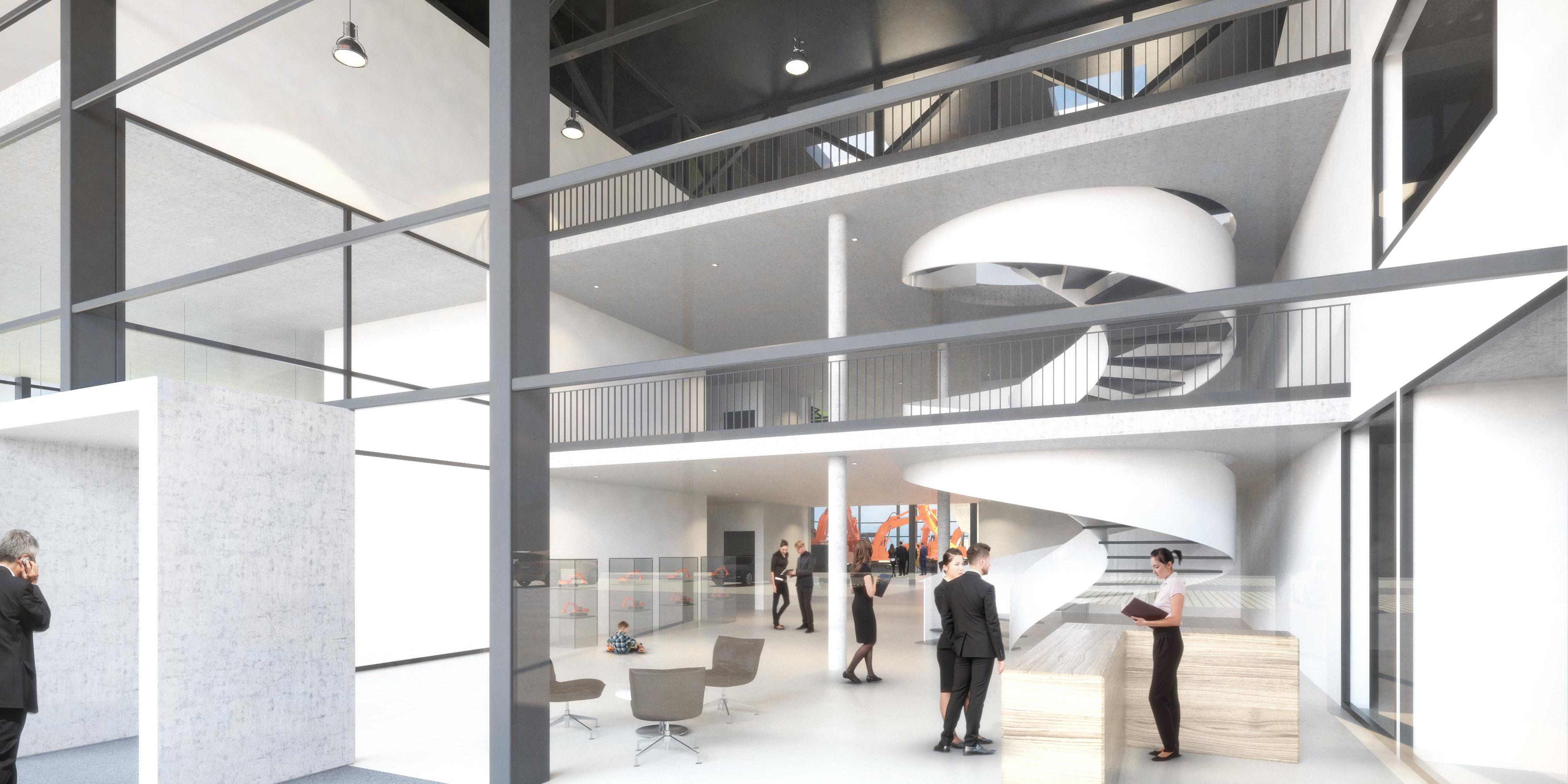 Moderne, aber zweckmäßige Architektur wird das Gebäude prägen.