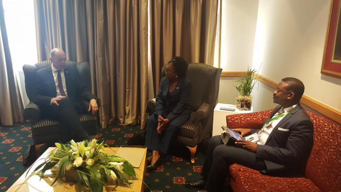Meeting between Hon. Tiefensee and Hon Shaningwa regarding cooperation on Mass Housing Solutions