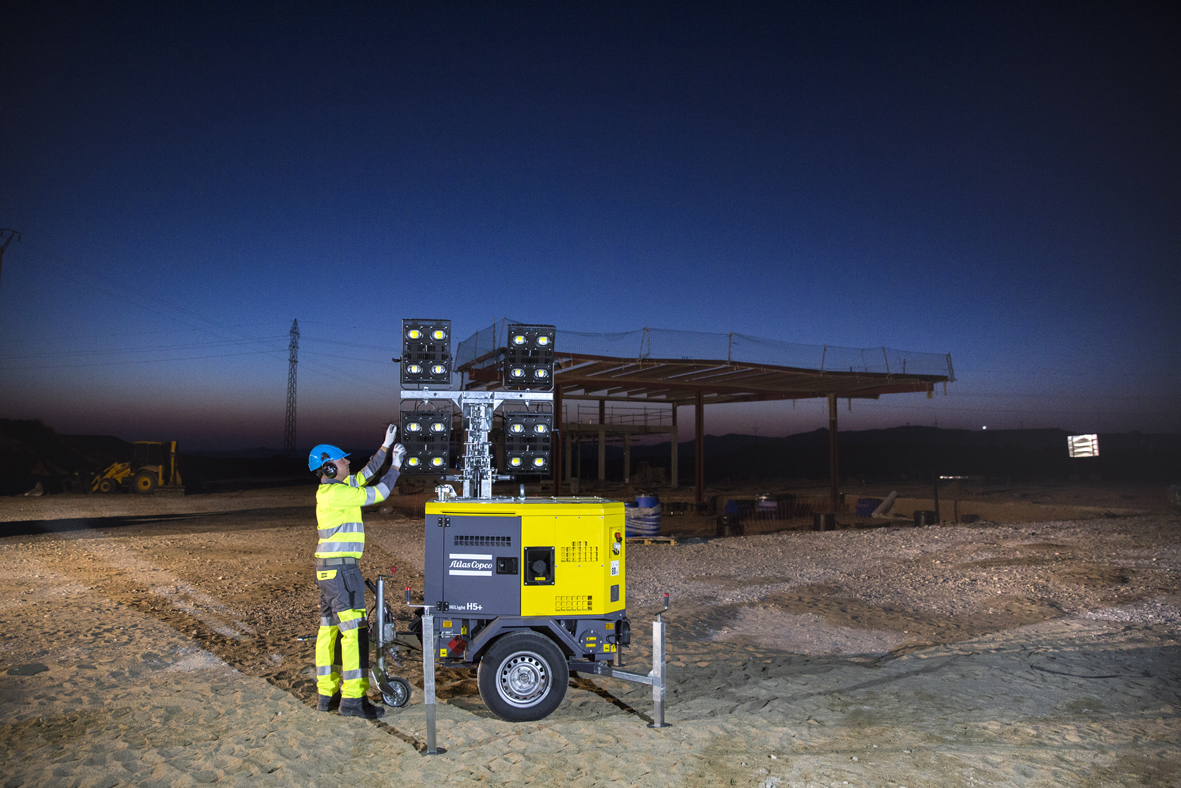 Atlas Copco, the HiLight H5+ LED light tower