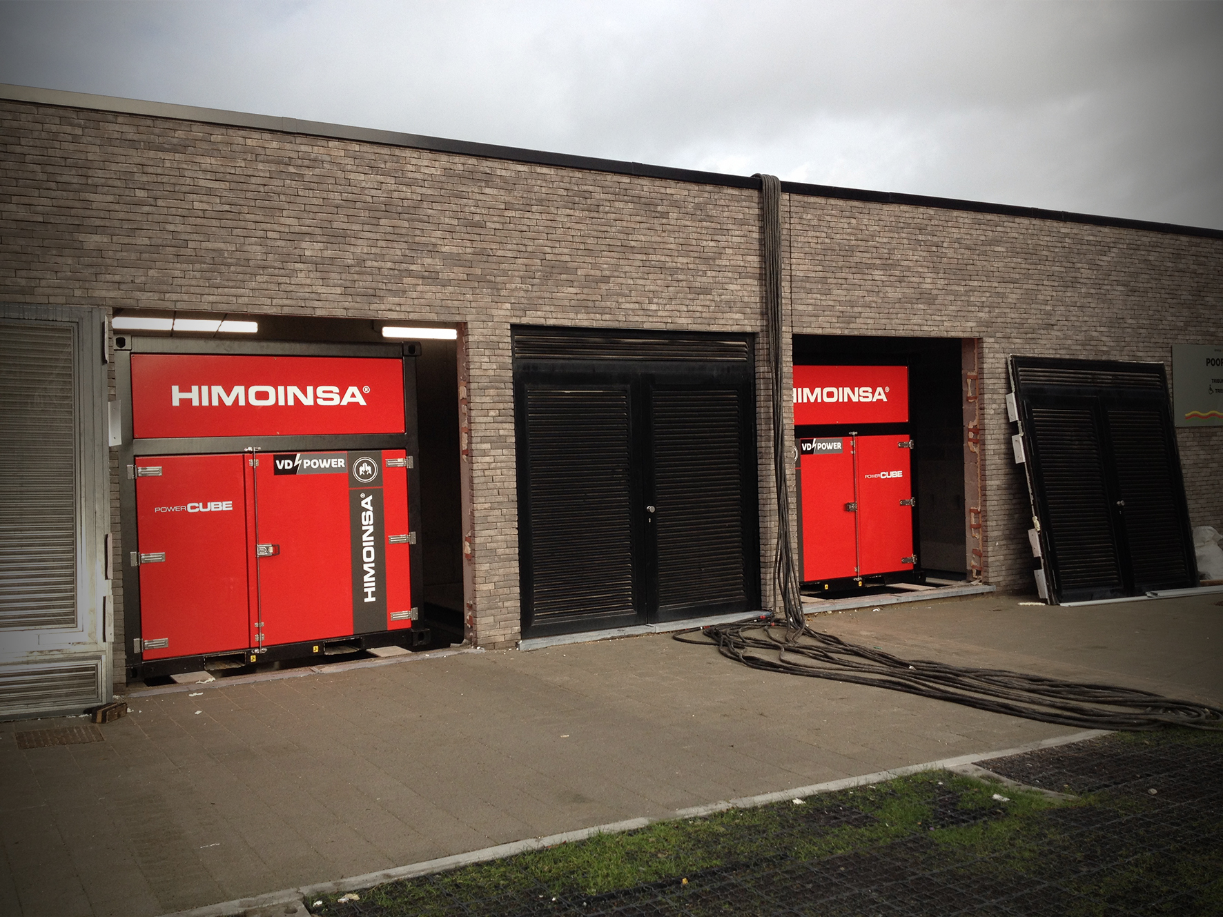 HIMOINSA Power Cubes in KV Oostende's new stadium in Belgium
