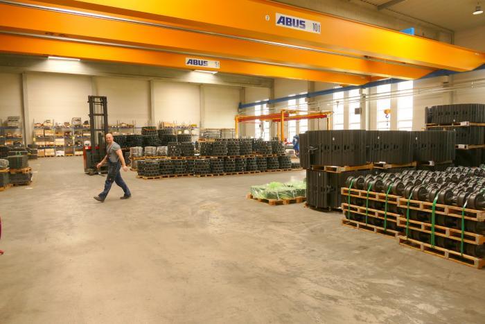 Die LIS-Fertigungshallen sind logistisch optimal konstruiert.