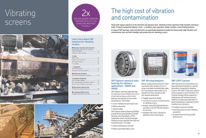 """Praxisbezug: Der Katalog beleuchtet """"typische"""" Problemstellungen bei verschiedenen Industrieanwendungen und präsentiert maßgeschneiderte SKF Lösungen für jede dieser Anwendungen."""
