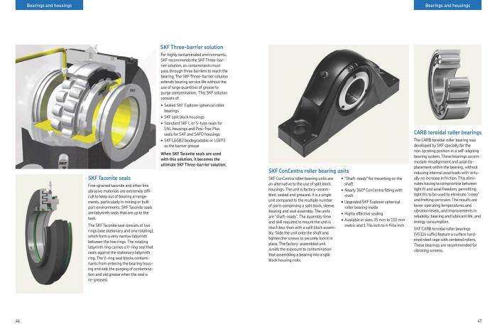 Nutzerfreundlich: In der zweiten Hälfte liefert der neue Katalog von SKF eine nach Produktgruppen geordnete Übersicht.