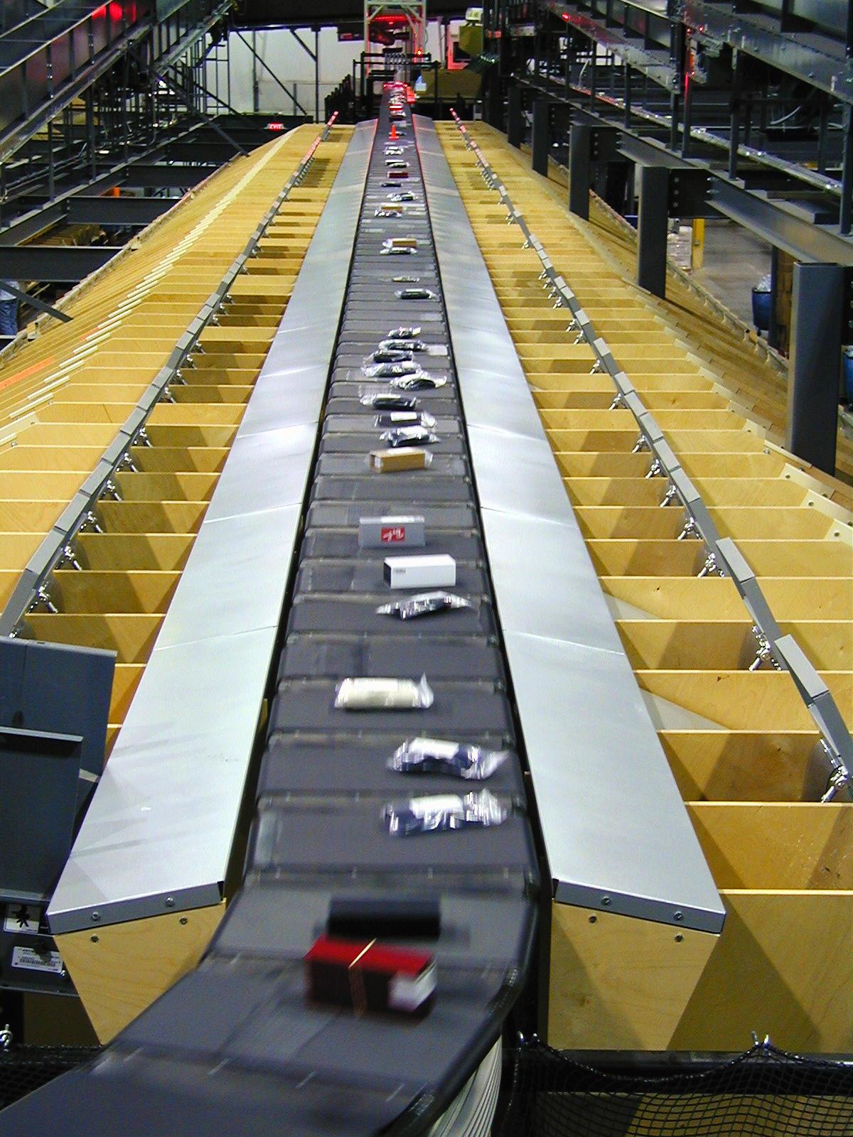 Die BEUMER Group liefert Sortier- und Verteilanlagen, mit denen zum Beispiel Versandhändler oder -dienstleister eine effiziente, durchgängige Bearbeitung der Waren sicherstellen. Bildnachweis Bild: BEUMER Group GmbH & Co. KG