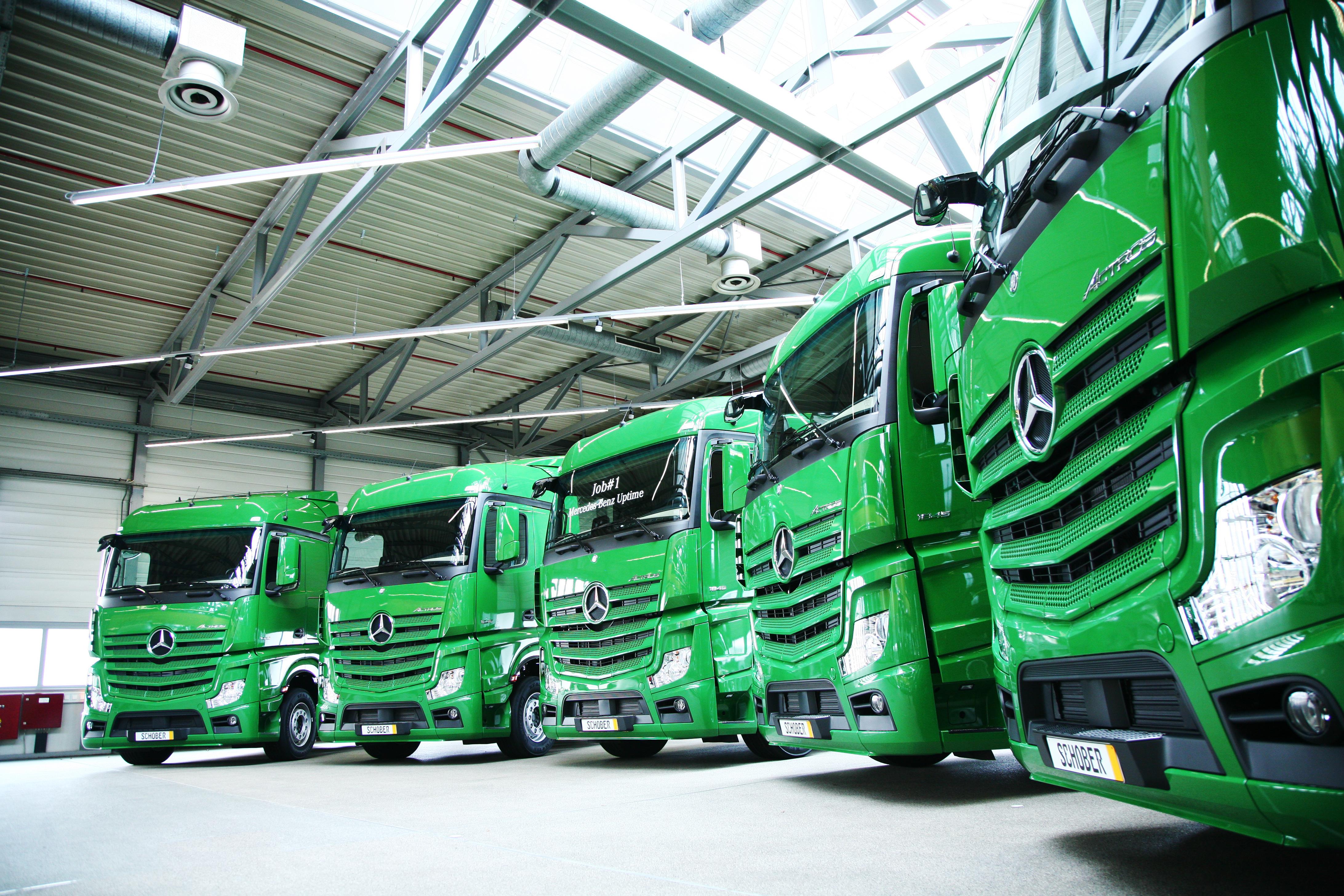 Spedition Schober erhält erste Lkw mit Mercedes-Benz Uptime.