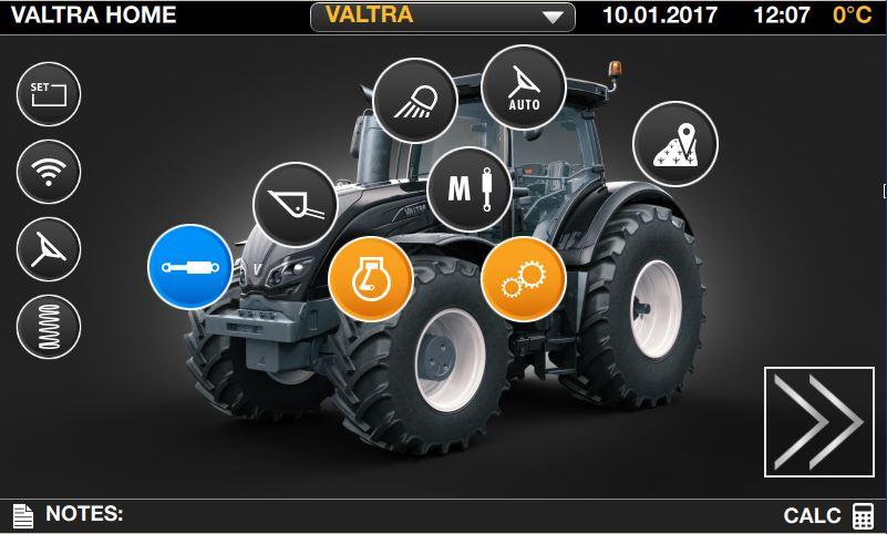 Das 9 Zoll Touchscreen-Terminal kann an die Anforderungen und Vorlieben des Fahrers oder auf den Einsatz angepasst werden. Alle Einstellungen können durch nur zwei Tipp- oder Wischbewegungen erreicht werden. Um zeitgleich mehrere Funktionen und Bereiche anzuzeigen kann der Bildschirm in vier Bereiche aufgeteilt werden.