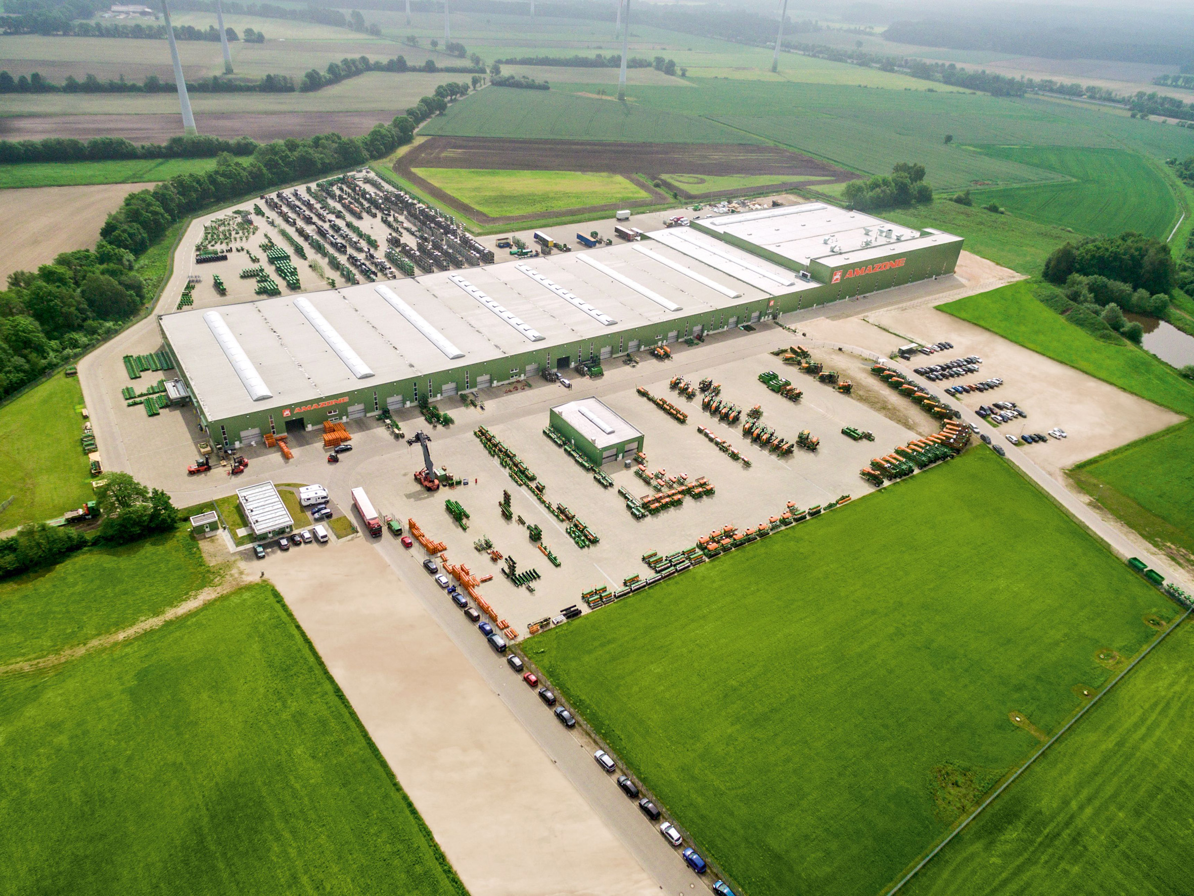Am Standort Hude-Altmoorhausen hat Amazone im November 2016 eine neue Farbgebungsanlage in Betrieb genommen.
