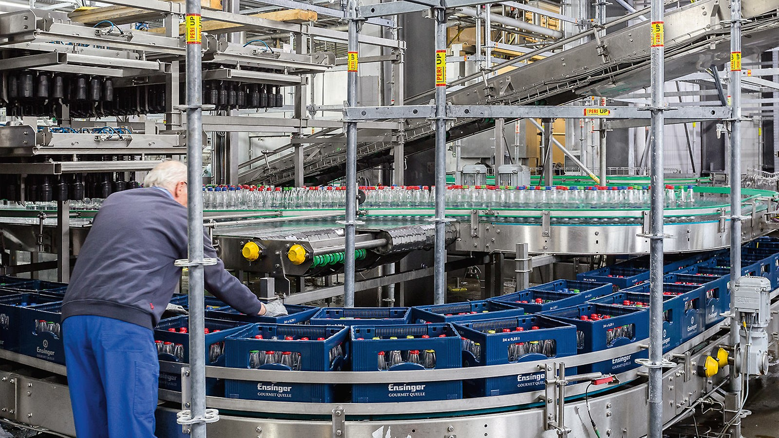 Der Produktionsbetrieb konnte trotz der umfangreichen Modernisierungsmaßnahme nahezu ungestört fortgeführt werden.