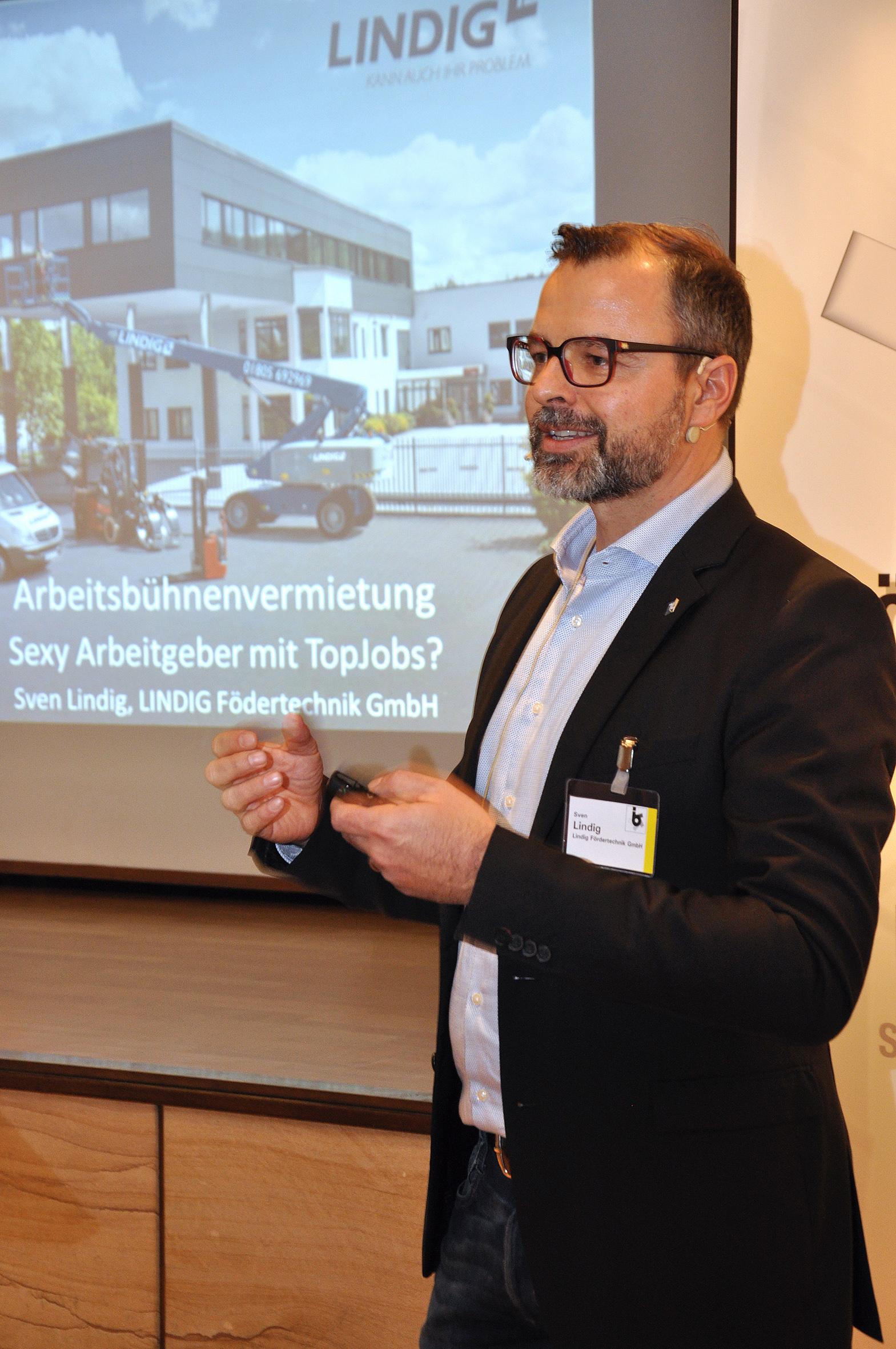 Sven Lindig, Geschäftsführer und Gesellschafter der LINDIG Fördertechnik GmbH: Haben Sie den Mut, als Arbeitgeber kreative Lösungen in Sachen Arbeitsplatzattraktivität zu suchen. © bbi