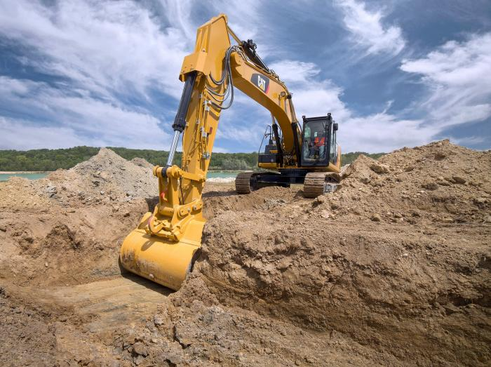 Der neue 336F XE bietet Produktionseffizienz mit integriertem Cat®-Wägesystem für gleichmäßig exakte Lasten