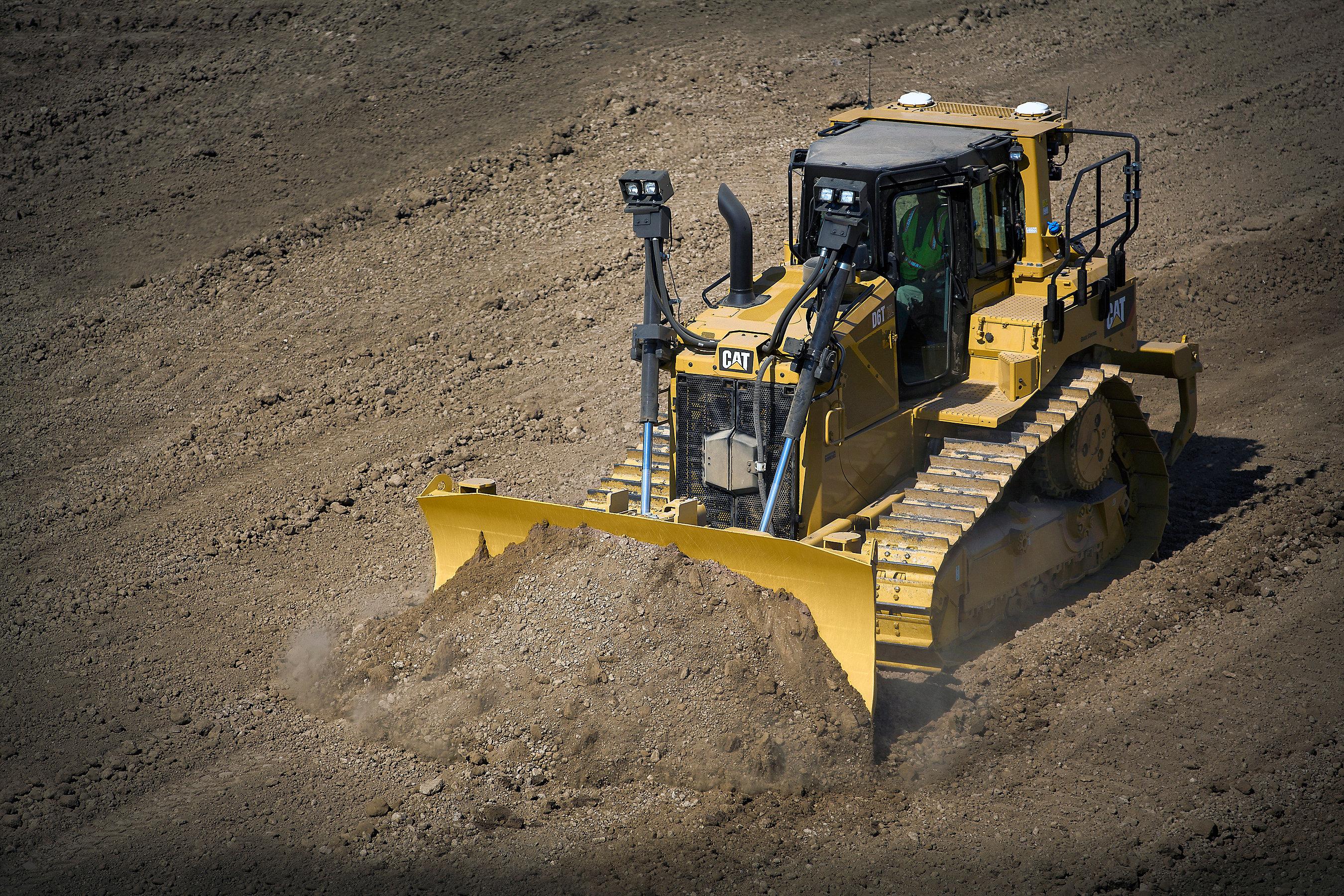 Cat D6T bietet optimale Kraftstoffeffizienz, ein vollautomatisches Getriebe und Technologie, die alle Aufgaben meistert