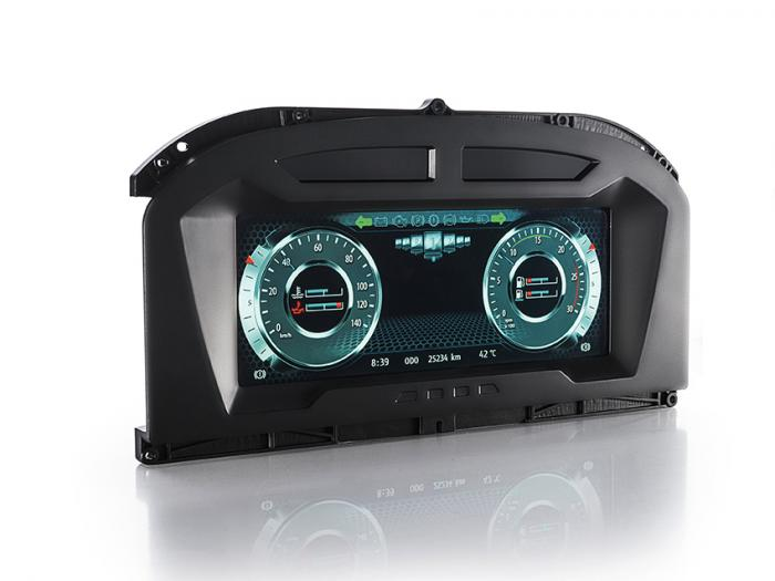 Die vollprogrammierbare Instrumenteneinheit MultiViu Professional 12 verfügt über ein hochauflösendes 12,3 Zoll Farb-TFT-Display, eine echtzeitfähige 2D-Grafik- sowie Videodarstellung.