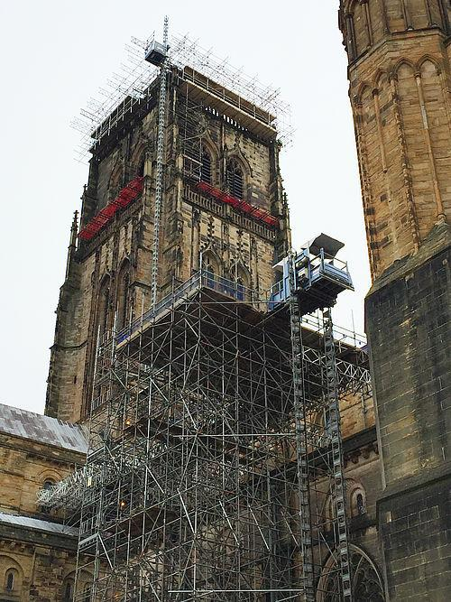GEDA transport platforms play their part in the renovation of Durham Cathedral