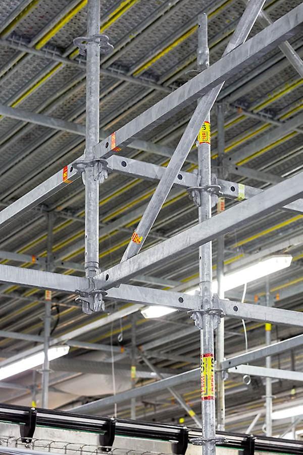 Das PERI UP Flex Modulgerüst ist mit seinem durchgängig metrischen Systemraster aller Bauteile optimal anpassungsfähig an nahezu beliebige örtliche Gegebenheiten – ohne zeitaufwändige Schraubverbindungen.