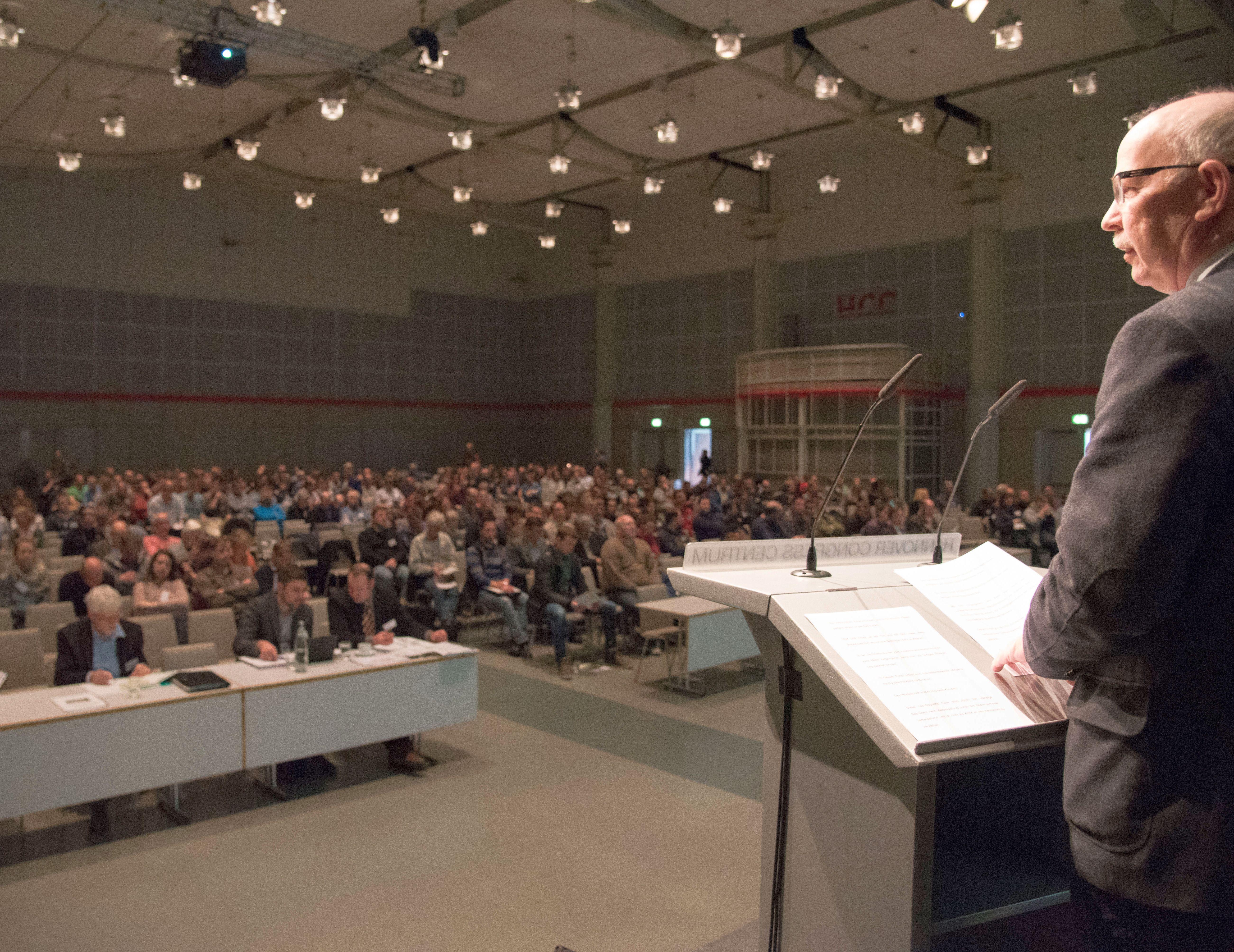 """""""Volles Haus"""" bei der 48. DLG-Technikertagung in Hannover. Fotoquelle: Wolfgang Ehrecke"""