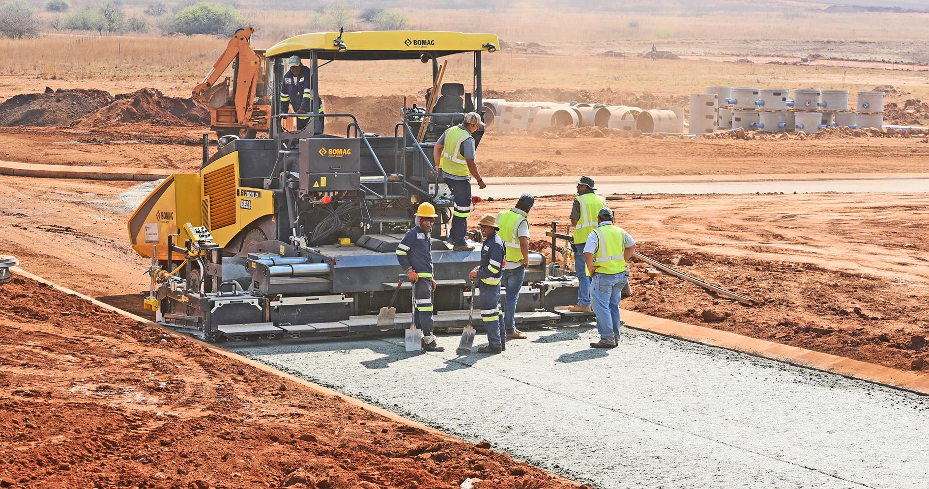 Bomag Maschinen erobern Südafrika