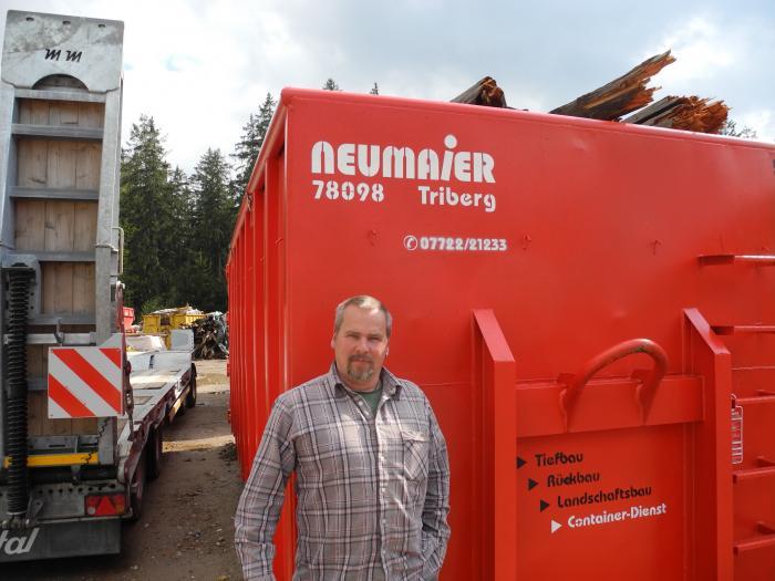 Georg Neumaier steht mit seinem Unternehmen für eine qualifizierte Recycling-Strategie im südlichen Schwarzwald/Triberg