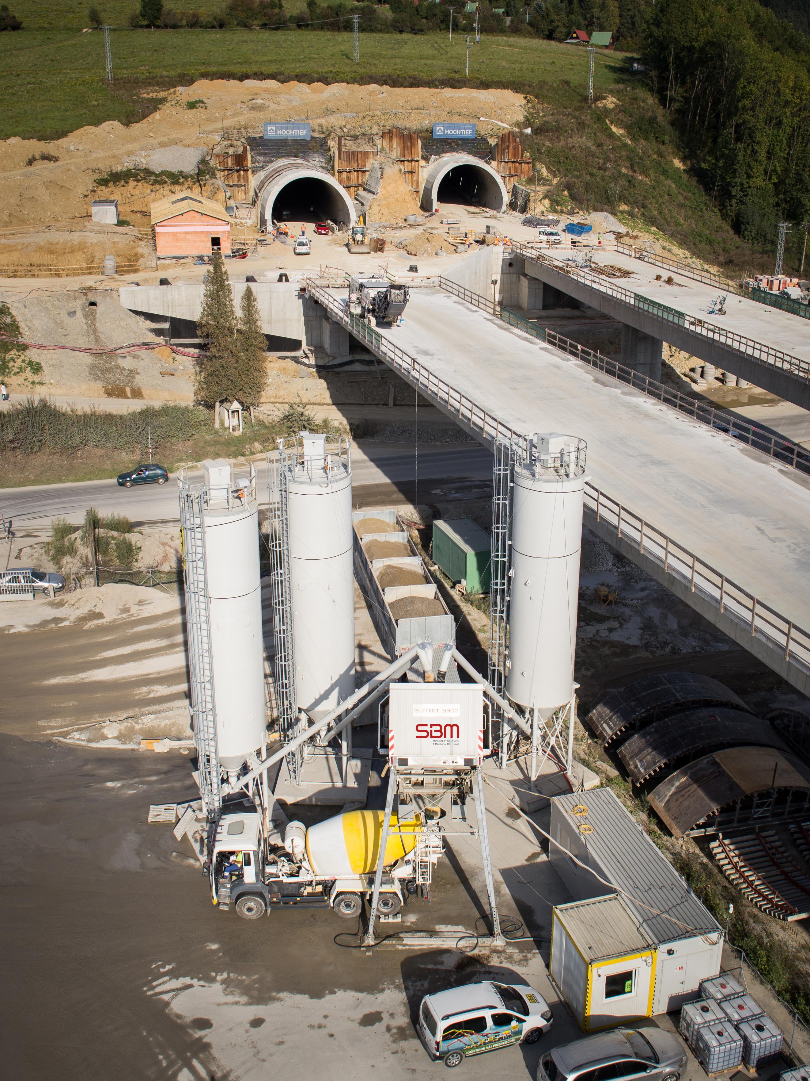 Höchste Qualität im Tunnelbau mit der EUROMIX® 3300 SM 84 L von SBM