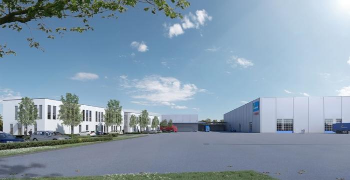 Im Mai 2016 soll das Felbermayr-Industrieobjekt im Gewerbegebiet Sulzemoos eröffnetwerden. Fotos: Wimmer Maschinentransporte